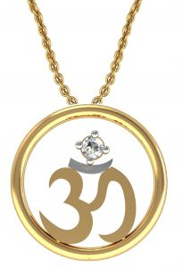 Avsar Real Gold And Swarovski Stone Manali Pendant Avp001yb