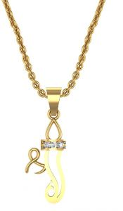 Avsar Real Gold And Swarovski Stone Sonam Pendant Avp004yb