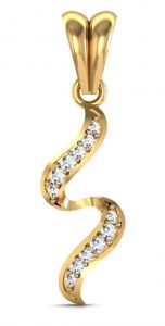 Avsar Real Gold And Diamond Katrina Pendant Avp006