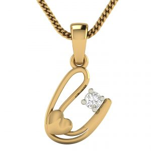 Avsar Real Gold And Diamond Apurva Pendant Avp6ya
