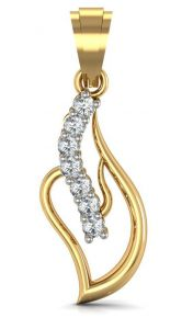 Hoop,Arpera,Avsar,Shonaya Women's Clothing - Avsar Real Gold and Diamond Anjalee Pendant  AVP007