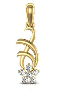 Avsar Real Gold And Diamond Sonakshi Pendant Avp009