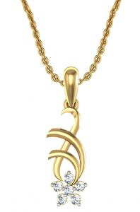 Avsar Real Gold And Swarovski Stone Vashi Pendant Avp009yb