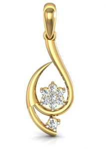 avsar,hoop Pendants (Imitation) - Avsar Real Gold and Diamond Gujarat Pendant  AVP014