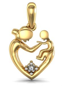 Avsar Real Gold And Diamond Samiksha Pendant Avp018