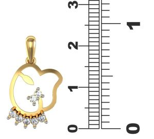 avsar,hoop Pendants (Imitation) - Avsar Real Gold and Diamond Bhopal Pendant  AVP022