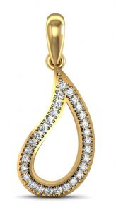 Avsar Real Gold And Diamond Deepika Pendant Avp030