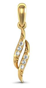 avsar,Hoop Fashion, Imitation Jewellery - Avsar Real Gold and Diamond Janvhi Pendant  AVP032