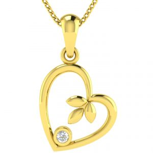 Avsar Real Gold And Diamond Janavi Pendant Avp044ya