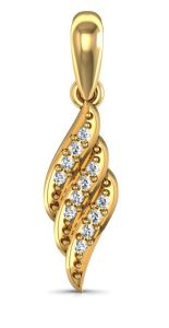 Jagdamba,Avsar,Estoss,Sinina Women's Clothing - Avsar Real Gold and Diamond Karishma Pendant  AVP049