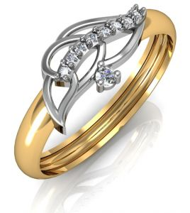 Avsar Real Gold And Swarovski Stone Prerana Ring Avr050yb