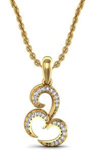 Avsar Real Gold And Swarovski Stone Priyanka Pendant Avp060yb