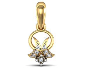 avsar,hoop Pendants (Imitation) - Avsar Real Gold and Diamond Priyanka Pendant  AVP061