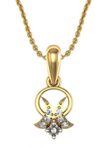 Avsar Real Gold And Swarovski Stone Sonam Pendant Avp061yb