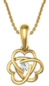Avsar Real Gold And Swarovski Stone Kirti Pendant Avp070yb