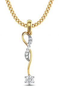 Avsar Silver Pendant Sets - Avsar Real Gold and Swarovski Stone Pratiksha Pendant AVP084YB