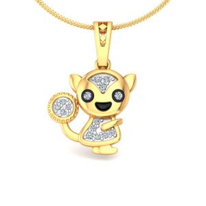 Avsar Real Gold And Diamond Advika Pendant Avp165a