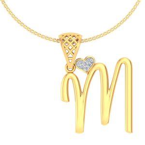 Diamond Pendants, Sets - Avsar Real Gold and Diamond Lavnya Pendant AVP189A