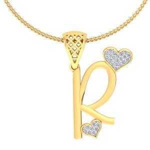 Diamond Pendants, Sets - Avsar Real Gold and Diamond Purvi Pendant AVP194A