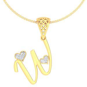 Diamond Pendants, Sets - Avsar Real Gold and Diamond Urvashi Pendant AVP199A