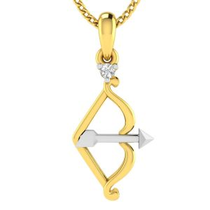 Avsar Real Gold And Diamond God Shape Pendant ( Code - Avp227ya )