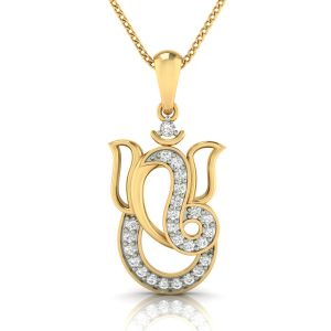 Avsar Real Gold And Diamond Pranjal Pendant( Code - Avp264a )