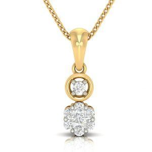 Avsar Real Gold And Diamond Nitisha Pendant( Code - Avp267a )