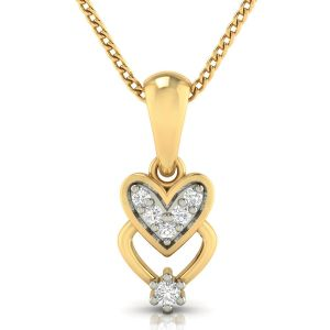 Avsar Real Gold And Diamond Tejal Pendant( Code - Avp272a )