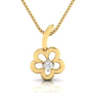 Avsar Real Gold And Diamond Snehal Pendant( Code - Avp273a )