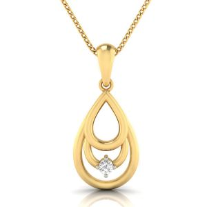 Avsar Real Gold And Diamond Trisha Pendant( Code - Avp274a )