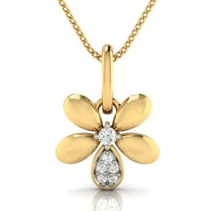 Avsar Real Gold And Diamond Tanavi Pendant( Code - Avp275a )