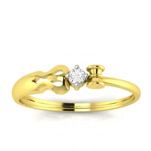 Avsar Real Gold And Diamond Janavi Ring Avr1ya