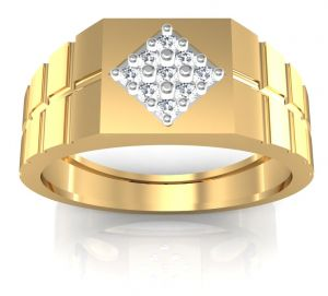 La Intimo,Shonaya,Avsar,Estoss Gold Jewellery - Avsar Real Gold and Diamond Shahid Men Ring AVR002