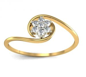 Avsar Real Gold And Swarovski Stone Aish Ring Avr009yb