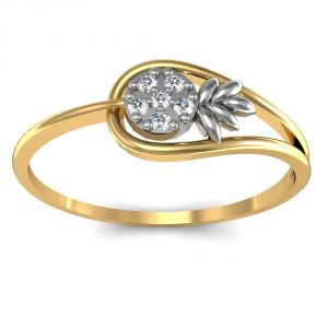 Avsar Real Gold And Diamond Priya Ring Avr012