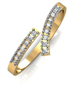 Avsar Real Gold And Swarovski Stone Radhika Ring Avr030yb