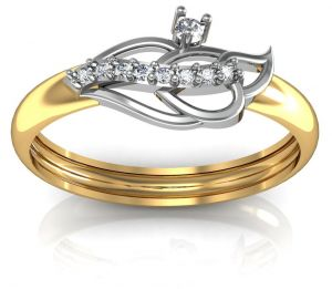Avsar Real Gold And Diamond Prerana Ring Avr050
