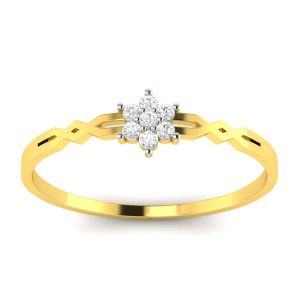 Avsar Real Gold And Diamond Mugdha Ring ( Code - Avr091ya )