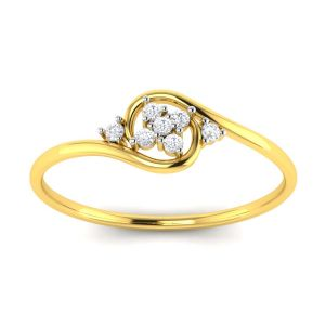 Avsar Real Gold And Diamond Pooja Ring ( Code - Avr092ya )