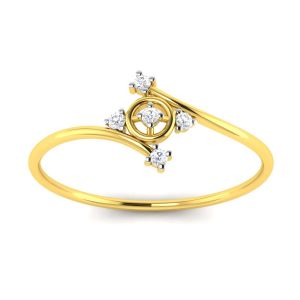 Avsar Real Gold And Diamond Divya Ring ( Code - Avr095ya )