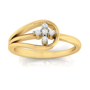 Avsar Real Gold And Diamond Priti Ring( Code - Avr312a )