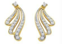 Real Gold And Diamonds Earrings Bge011