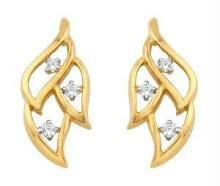 Bling!diamond Daily Wear Leaf Fancy Earring