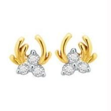 Bling! Dia. Daily Wear Three Stone Fancy Earring