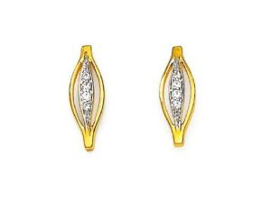 Bling! Real Gold And Diamond Simple Style Fashion