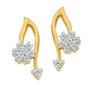 Bling Diamond Flower Earrings