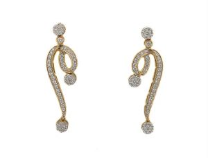 Avsar,Ag,Triveni,Flora,Cloe Diamond Jewellery - BLING with Real Gold and Diamonds BGE115