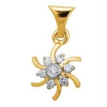 Bling! Diamond Daily Wear Flower Shape Pendant