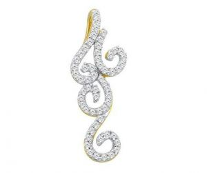Bling! Diamond Pendant With Real Gold Bgp043