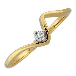 Bling! Real Gold & Diamond Single Solitaire Ring
